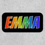 "[ Thumbnail: First Name ""Emma"" ~ Fun Rainbow Coloring ]"