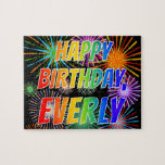 """[ Thumbnail: First Name """"Everly"""", Fun """"Happy Birthday"""" Jigsaw Puzzle ]"""