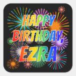 """[ Thumbnail: First Name """"Ezra"""", Fun """"Happy Birthday"""" Sticker ]"""