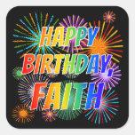 """[ Thumbnail: First Name """"Faith"""", Fun """"Happy Birthday"""" Sticker ]"""