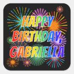 "[ Thumbnail: First Name ""Gabriella"", Fun ""Happy Birthday"" Sticker ]"