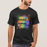 "[ Thumbnail: First Name ""Gina"", Fun ""Happy Birthday"" T-Shirt ]"