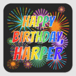 "[ Thumbnail: First Name ""Harper"", Fun ""Happy Birthday"" Sticker ]"