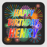 "[ Thumbnail: First Name ""Henry"", Fun ""Happy Birthday"" Sticker ]"