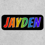 "[ Thumbnail: First Name ""Jayden"" ~ Fun Rainbow Coloring ]"