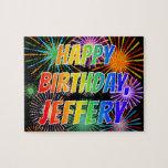 "[ Thumbnail: First Name ""Jeffery"", Fun ""Happy Birthday"" Jigsaw Puzzle ]"