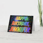 "[ Thumbnail: First Name ""Jennifer"" Fun ""Happy Birthday"" Card ]"