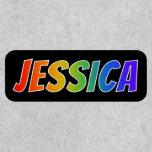 "[ Thumbnail: First Name ""Jessica"" ~ Fun Rainbow Coloring ]"