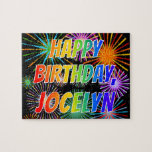 "[ Thumbnail: First Name ""Jocelyn"", Fun ""Happy Birthday"" Jigsaw Puzzle ]"