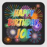 "[ Thumbnail: First Name ""Joe"", Fun ""Happy Birthday"" Sticker ]"