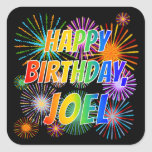 "[ Thumbnail: First Name ""Joel"", Fun ""Happy Birthday"" Sticker ]"