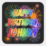 "[ Thumbnail: First Name ""Johnny"", Fun ""Happy Birthday"" Sticker ]"