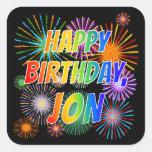 """[ Thumbnail: First Name """"Jon"""", Fun """"Happy Birthday"""" Sticker ]"""