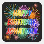"[ Thumbnail: First Name ""Jonathan"", Fun ""Happy Birthday"" Sticker ]"