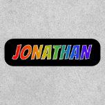 "[ Thumbnail: First Name ""Jonathan"" ~ Fun Rainbow Coloring ]"