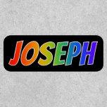 "[ Thumbnail: First Name ""Joseph"" ~ Fun Rainbow Coloring ]"