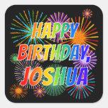 """[ Thumbnail: First Name """"Joshua"""", Fun """"Happy Birthday"""" Sticker ]"""