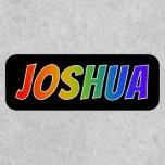 "[ Thumbnail: First Name ""Joshua"" ~ Fun Rainbow Coloring ]"