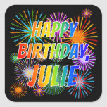 "[ Thumbnail: First Name ""Julie"", Fun ""Happy Birthday"" Sticker ]"
