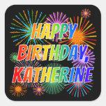 """[ Thumbnail: First Name """"Katherine"""", Fun """"Happy Birthday"""" Sticker ]"""