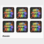 """[ Thumbnail: First Name """"Katie"""", Fun """"Happy Birthday"""" Sticker ]"""