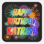 """[ Thumbnail: First Name """"Katrina"""", Fun """"Happy Birthday"""" Sticker ]"""