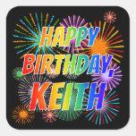 """[ Thumbnail: First Name """"Keith"""", Fun """"Happy Birthday"""" Sticker ]"""