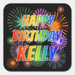 """[ Thumbnail: First Name """"Kelly"""", Fun """"Happy Birthday"""" Sticker ]"""