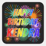 "[ Thumbnail: First Name ""Kendra"", Fun ""Happy Birthday"" Sticker ]"