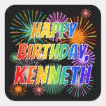 "[ Thumbnail: First Name ""Kenneth"", Fun ""Happy Birthday"" Sticker ]"