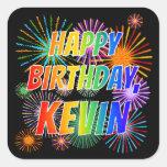 "[ Thumbnail: First Name ""Kevin"", Fun ""Happy Birthday"" Sticker ]"