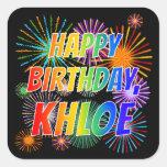 "[ Thumbnail: First Name ""Khloe"", Fun ""Happy Birthday"" Sticker ]"