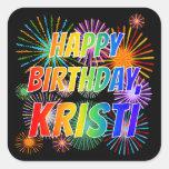 """[ Thumbnail: First Name """"Kristi"""", Fun """"Happy Birthday"""" Sticker ]"""