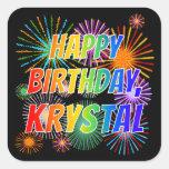 "[ Thumbnail: First Name ""Krystal"", Fun ""Happy Birthday"" Sticker ]"