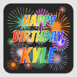 "[ Thumbnail: First Name ""Kyle"", Fun ""Happy Birthday"" Sticker ]"