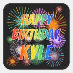 """[ Thumbnail: First Name """"Kyle"""", Fun """"Happy Birthday"""" Sticker ]"""