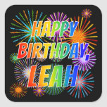 "[ Thumbnail: First Name ""Leah"", Fun ""Happy Birthday"" Sticker ]"