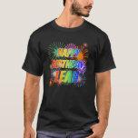 "[ Thumbnail: First Name ""Leah"", Fun ""Happy Birthday"" T-Shirt ]"