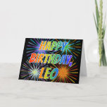 "[ Thumbnail: First Name ""Leo"" Fun ""Happy Birthday"" Card ]"