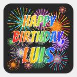 """[ Thumbnail: First Name """"Luis"""", Fun """"Happy Birthday"""" Sticker ]"""