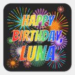 "[ Thumbnail: First Name ""Luna"", Fun ""Happy Birthday"" Sticker ]"