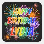"""[ Thumbnail: First Name """"Lydia"""", Fun """"Happy Birthday"""" Sticker ]"""