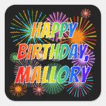 """[ Thumbnail: First Name """"Mallory"""", Fun """"Happy Birthday"""" Sticker ]"""