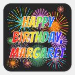 """[ Thumbnail: First Name """"Margaret"""", Fun """"Happy Birthday"""" Sticker ]"""