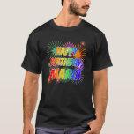 "[ Thumbnail: First Name ""Maria"", Fun ""Happy Birthday"" T-Shirt ]"