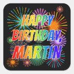 """[ Thumbnail: First Name """"Martin"""", Fun """"Happy Birthday"""" Sticker ]"""