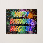 "[ Thumbnail: First Name ""Meghan"", Fun ""Happy Birthday"" Jigsaw Puzzle ]"