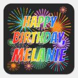 """[ Thumbnail: First Name """"Melanie"""", Fun """"Happy Birthday"""" Sticker ]"""