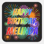 """[ Thumbnail: First Name """"Melinda"""", Fun """"Happy Birthday"""" Sticker ]"""
