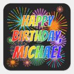 "[ Thumbnail: First Name ""Michael"", Fun ""Happy Birthday"" Sticker ]"